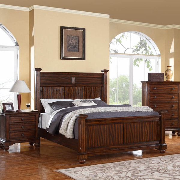 Forester Honey Oak Wood 3 Piece Bedroom Set 15998524