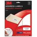 3M Permanent Adhesive Inkjet Printer White 1x2.625-inch Mailing Labels (Pack of 750)