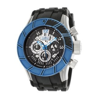 Invicta Men's 'Slicer' Pro Diver Black Polyurethane Watch