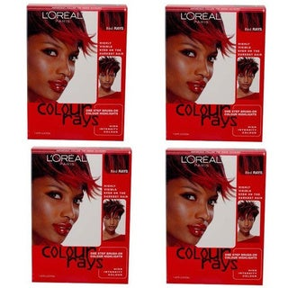 L'Oreal Colour Rays Brush-on Highlights Red Rays (Pack of 4)