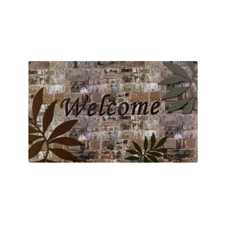 Welcome Palms Outdoor Rubber Entrance Mat (18 x 30-inch)