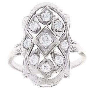 14k White Gold 3/4ct TDW Antique Ring