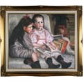Pierre Auguste Renoir 'Portrait of Children (The Children of Martial Caillebotte)' Hand-painted Framed Canvas Art