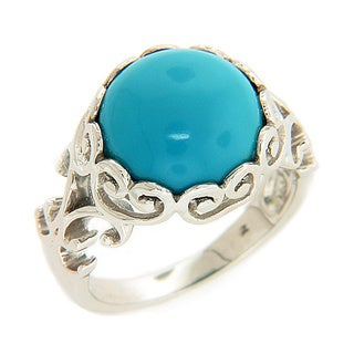 Sterling Silver Sleeping Beauty 5 1/3ct TGW Turquoise Ring