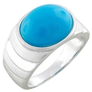Sterling Silver Sleeping Beauty 3.75ct TGW Turquoise Cocktail Ring