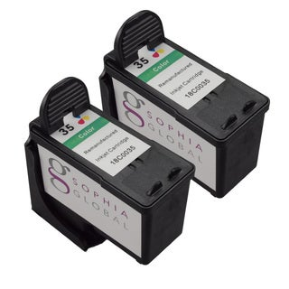 Sophia Global Lexmark 35 Ink Cartridge Replacement (2 Color) (Remanufactured)