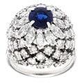 Platinum 4ct TDW Sapphire Dome Estate Ring (H-I, SI1-SI2)