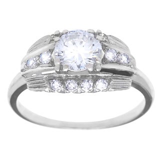 Platinum 1ct TDW Antique Engagement Ring (G-H, VS1-VS2)