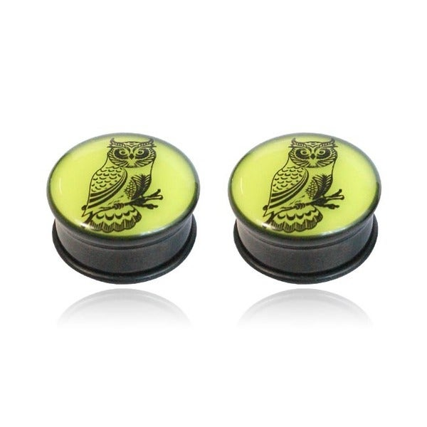 Supreme Jewelry Glow in Dark Owl Plug (Pair)