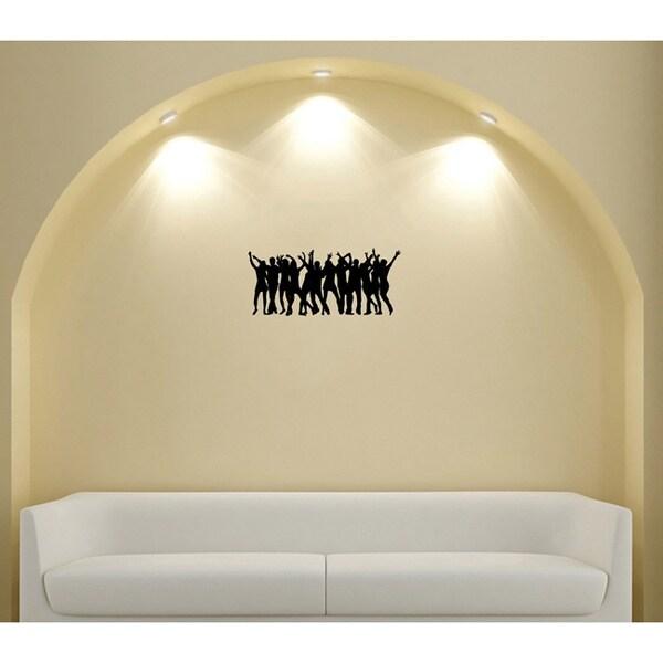 People Dancing Silhouette Wall Vinyl Decal