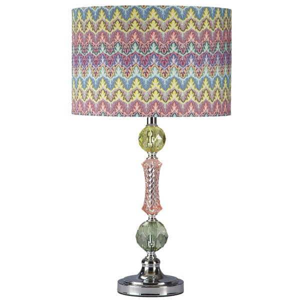 Signature Design by Ashley 1-light Rainbow Acrylic/ Metal Table Lamp