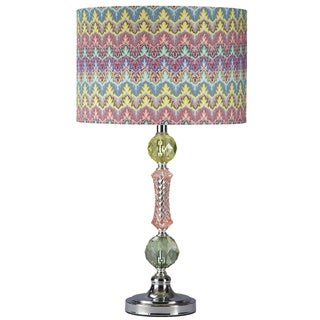 1-light Rainbow Acrylic/ Metal Table Lamp