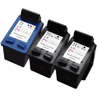 Sophia Global Remanufactured Ink Cartridge Replacement for HP 21XL 22 (2 Black, 1 Color)