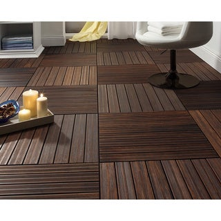 Envi 1x2-foot Solid Fused Bamboo Deck Tiles (Pack of 4)