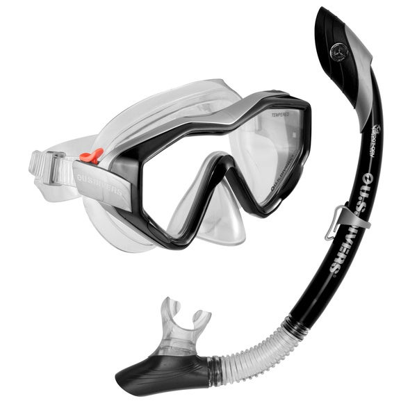 Anacapa Island Black 2-piece Snorkel Set
