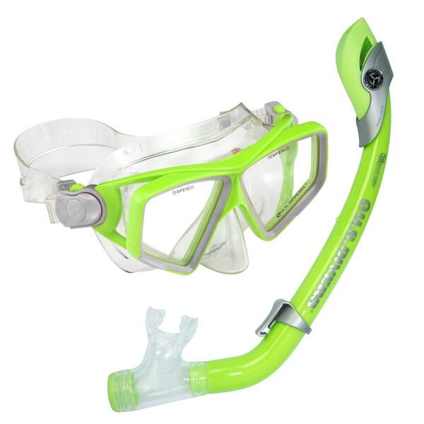 Lanai Paradise Green Junior Snorkel Set
