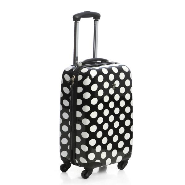 Heys USA 4-Wheel Motion Polka Dot 20-inch Carry-on Spinner Upright