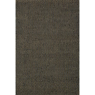 Hand-woven Natural Black Jute Rug (5' x 7'6)