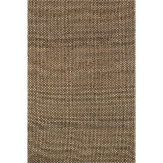 Hand-woven Natural Brown Jute Rug (5' x 7'6)