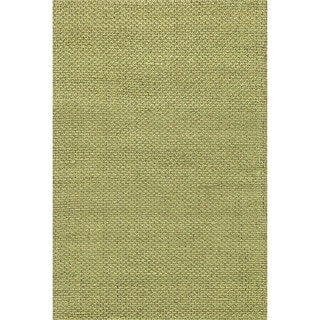 Hand-woven Natural Green Jute Rug (5' x 7'6)