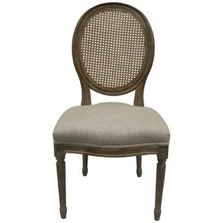 nuLOOM Casual Living Vintage French Round Back Upholstered Linen Dining Chairs (Set of 2)