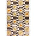 nuLOOM Hand-hooked Honeycomb Wool Brown Rug (5' x 8')