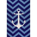 nuLOOM Handmade Indoor/ Outdoor Nautical Anchor Chevron Blue Rug (5' x 8')