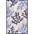 nuLOOM Hand-tufted Indoor/ Outdoor Ocean Coral Ivory Rug (5' x 8')