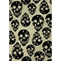 nuLOOM Hand-tufted Kids Skeleton Skulls Black Wool Rug (5' x 7'6)