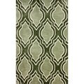 nuLOOM Hand-tufted Abrash Modern Moroccan Trellis Green Rug (7'6 x 9'6)