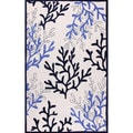 nuLOOM Hand-tufted Indoor/ Outdoor Ocean Coral Ivory Rug (7'6 x 9'6)