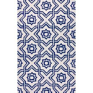 nuLOOM Hand-tufted Indoor/ Outdoor Trellis Ivory Rug (7'6 x 9'6)