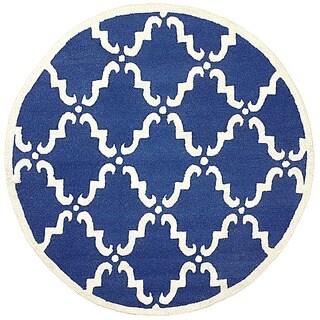 nuLOOM Handmade Luna Marrakesh Trellis Wool Round Rug (6' Round)