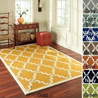 nuLOOM Handmade Luna Marrakesh Trellis Wool runner Rug (2'6 x 8')