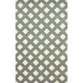 nuLOOM Hand-tufted Trellis Grey Wool Rug (5' x 8')