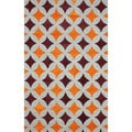 nuLOOM Handmade Star Trellis Orange Wool Rug (5' x 8')