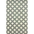 nuLOOM Hand-tufted Trellis Grey Wool Rug (8'6 x 11'6)