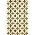 nuLOOM Handmade Star Trellis Blue Wool Rug (7'6 x 9'6)