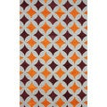 nuLOOM Handmade Star Trellis Orange Wool Rug (7'6 x 9'6)