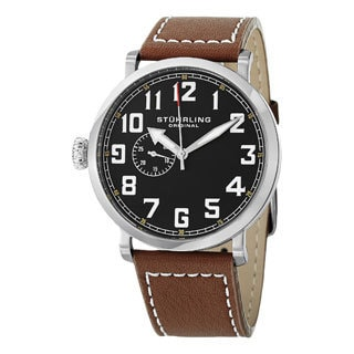 Stuhrling Original Men's MW721S01O 'Monterey L' Quartz Strap Watch