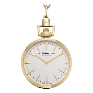 Stuhrling Original Men's Pedigree Swiss Quartz Pocket Watch