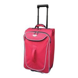 Travelers Club Waterloo 20in Rolling Carry-On Duffel Red