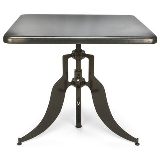 OFM Endure Series Square Brown Adjustable Height Table