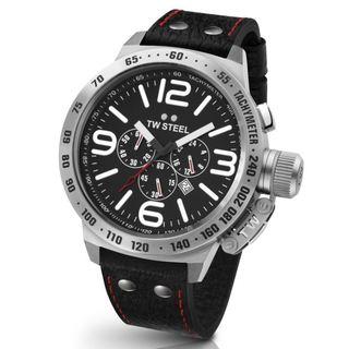 TW Steel Men's Canteen TW78 Black Chronograph Watch