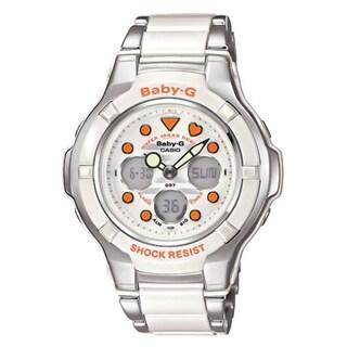 Casio Women's Baby-G BGA-123-7A2 White Chronograph Watch