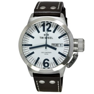 TW Steel Men's TWS-CE1005 CEO Canteen Silver Automatic Watch
