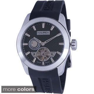 Haurex Italy Men's Magister Auto Black Silicone Watch