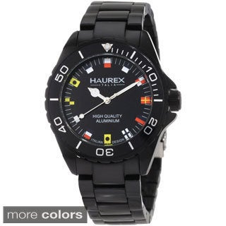 Haurex Italy Men's Ink Aluminum Watch