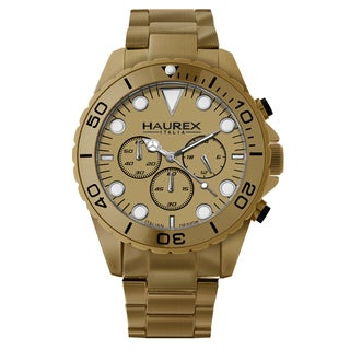 Haurex Italy Men's Ink Chrono Gold Aluminum Watch