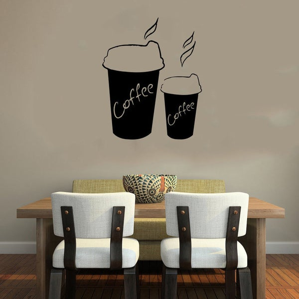 Cup of Coffee To Go Smoke Wall Vinyl Decal